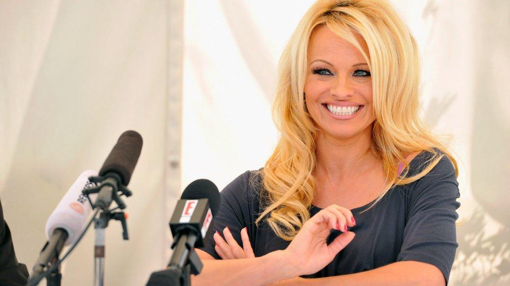 Pamela Anderson war als PETA-Botschafterin in Berlin