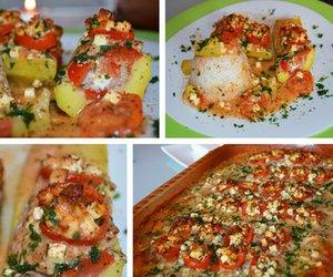 Zucchiniboote - vegan