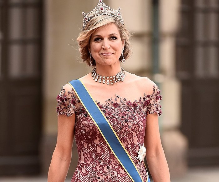 STOCKHOLM, SWEDEN - JUNE 13: Queen Maxima of the Netherlands attends the royal wedding of Prince Carl Philip of Sweden and Sofia Hellqvist at The Royal Palace on June 13, 2015 in Stockholm, Sweden. (Photo by Ian Gavan/Getty Images)