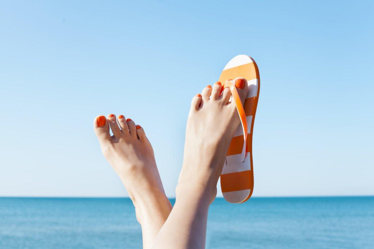 Schöne Füße im Sommer
