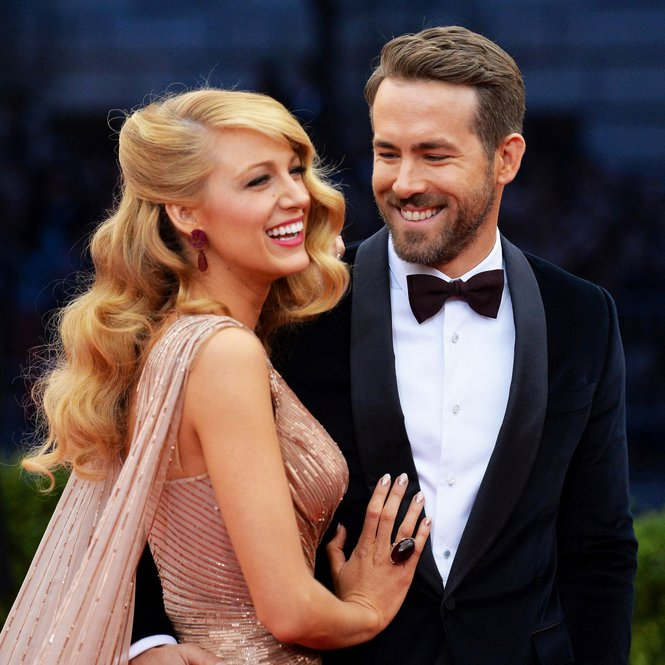 "NEW YORK, NY - MAY 05: Actors Blake Lively (L) and Ryan Reynolds attend the ""Charles James: Beyond Fashion"" Costume Institute Gala at the Metropolitan Museum of Art on May 5, 2014 in New York City.  (Photo by Mike Coppola/Getty Images)"