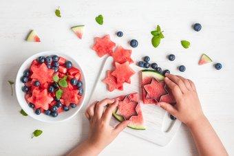 Obst für Kinder in Sternenform