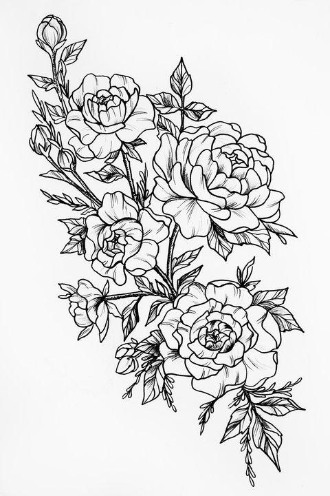 21 Vorlagen Fur Dein Blumen Tattoo Desired De 5