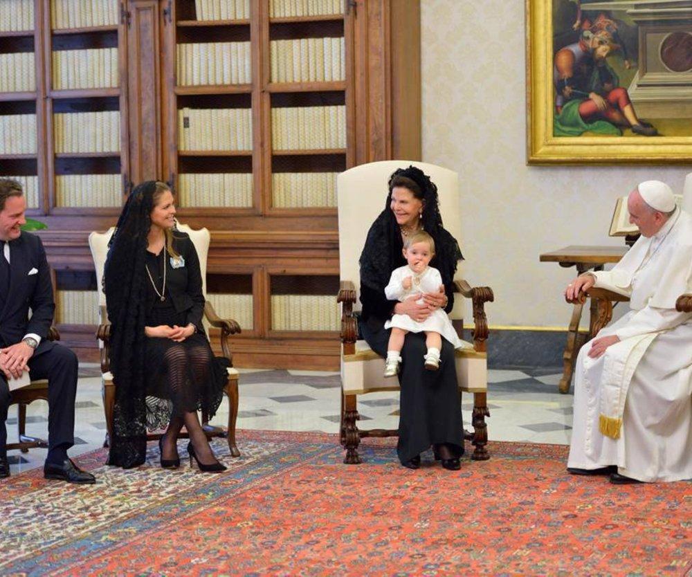 Prinzessin Madeleine besucht den Papst