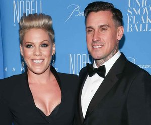 NEW YORK, NY - DECEMBER 01: Pink (L) and husband Carey Hart attends 2015 UNICEF Snowflake Ball at Cipriani Wall Street on December 1, 2015 in New York City. (Photo by Rob Kim/Getty Images)
