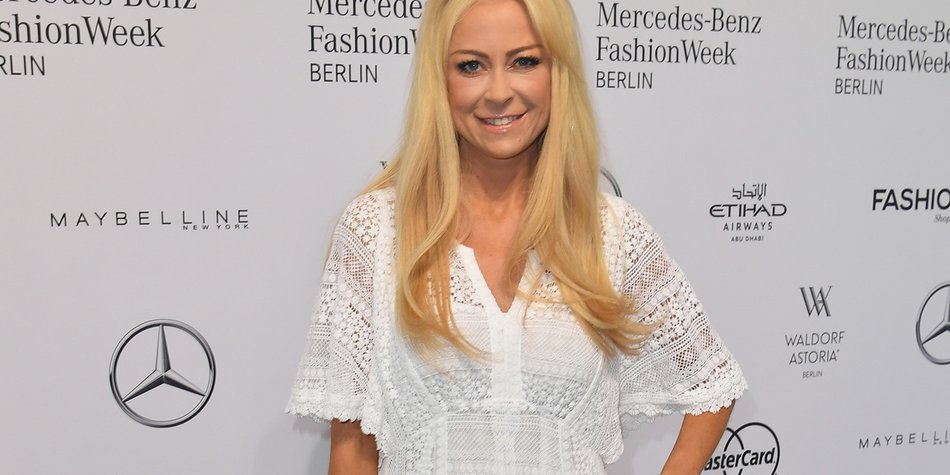 BERLIN, GERMANY - JUNE 28: Jenny Elvers attends the Riani show during the Mercedes-Benz Fashion Week Berlin Spring/Summer 2017 at Erika Hess Eisstadion on June 28, 2016 in Berlin, Germany. (Photo by Matthias Nareyek/Getty Images for Riani)