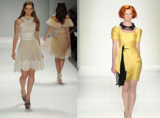 New York Fashion Week mit Kleidern von Tadashi Shoji und Elene Cassis