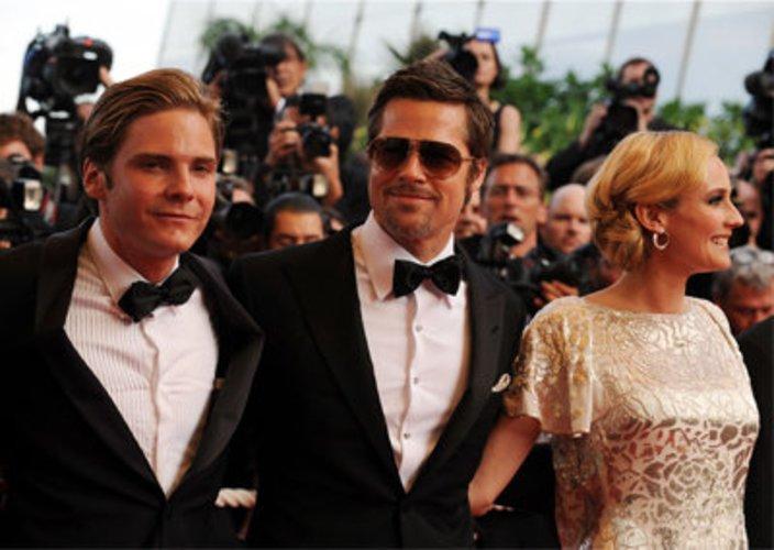 Cannes: Daniel Brühl, Brad Pitt und Diane Kruger