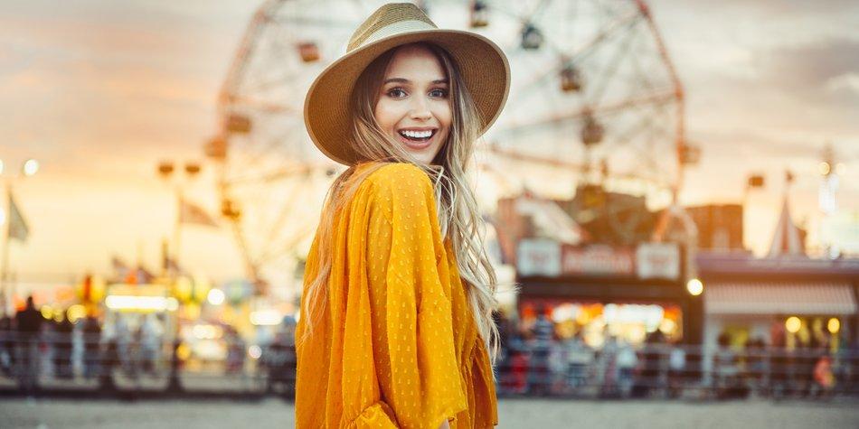 Sommerkleid in Trendfarbe Gelb