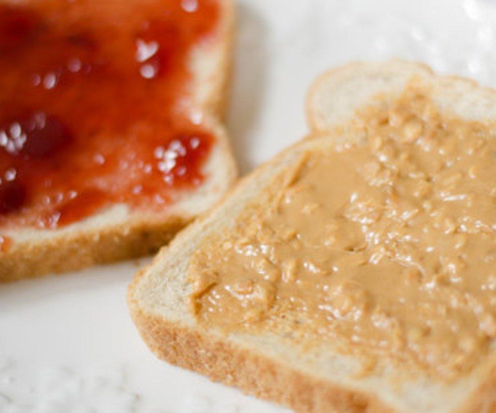 Erdnussbutter Sandwich