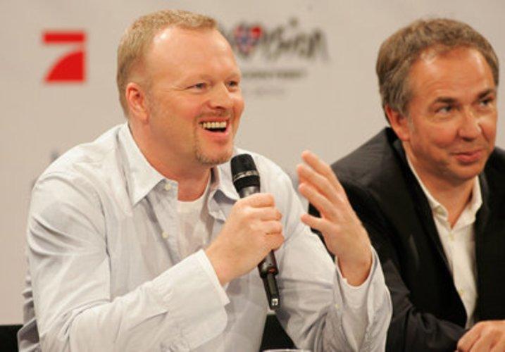 Musiker Stefan Raab auf einer Pressekonferenz