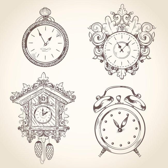 Uhr tattoovorlage 3d Uhren