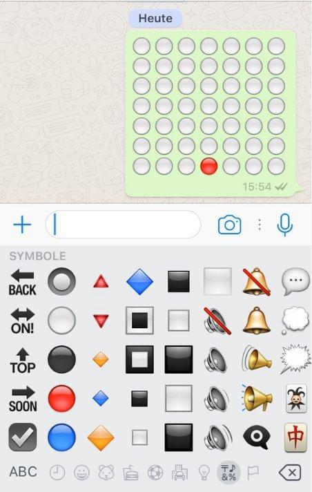 Vier Gewinnt WhatsApp-Spiel