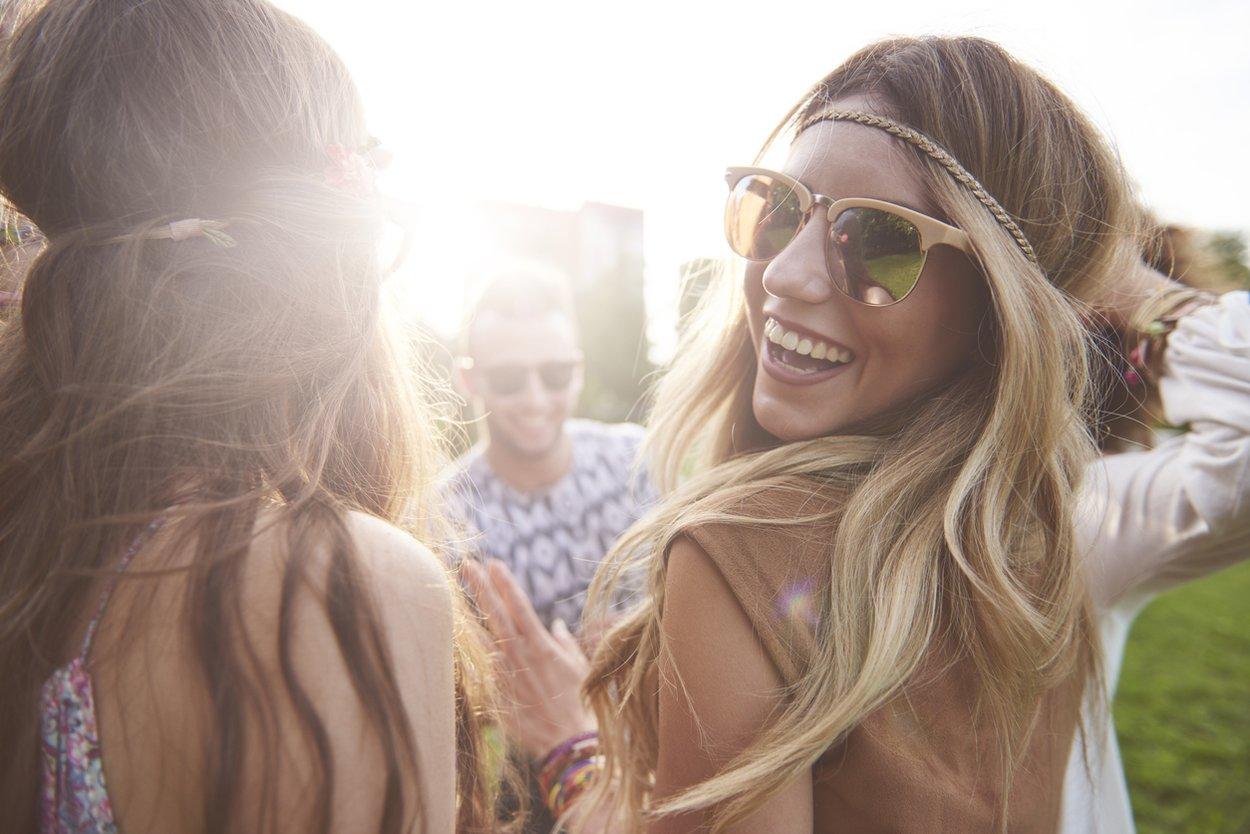 Frisuren für ein Festival