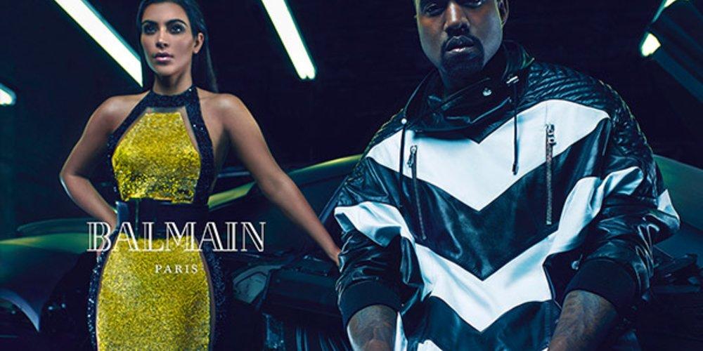 Kim Kardashian und Kanye West für Balmain