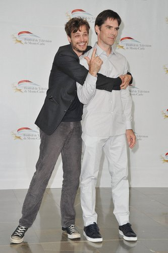 Criminal Minds-Darsteller Matthew Gray Gubler and Thomas Gibson.