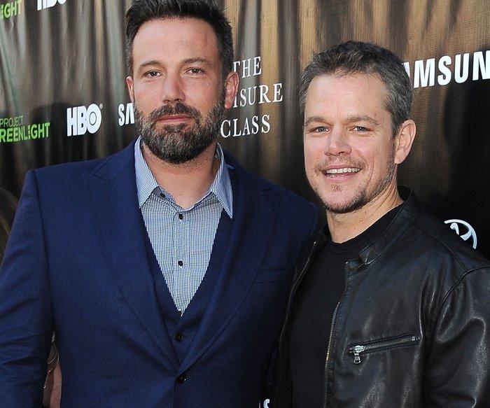 Ben Affleck feiert mit Matt Damon