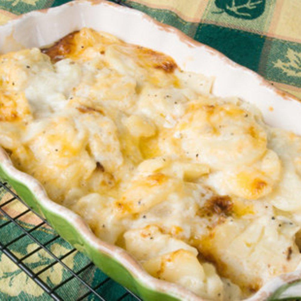 Kartoffelauflauf mit Fleisch