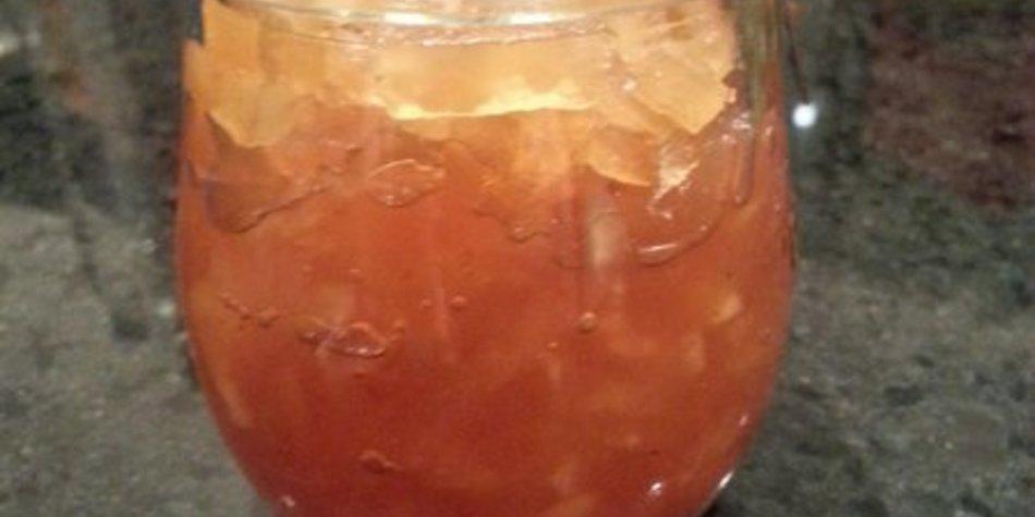 Apfel-Konfitüre mit Kastanienhonig und Lebkuchengewürz