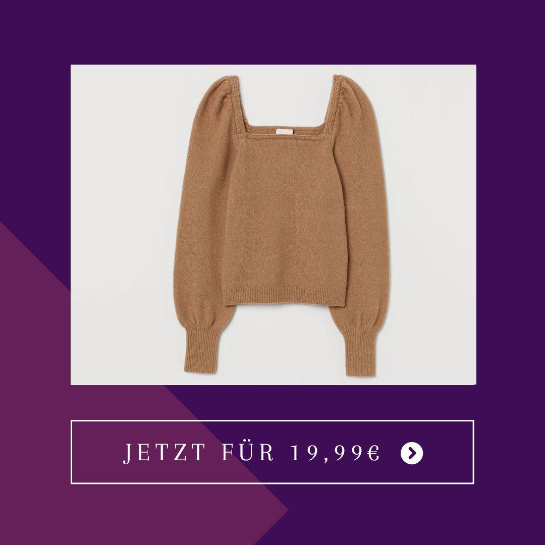 H&M-Puffärmel-Pullover