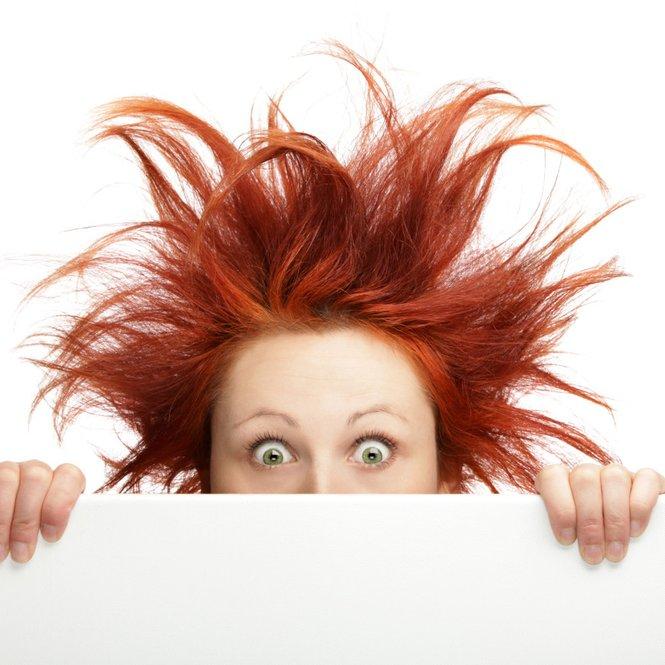 Elektrisierte Haare