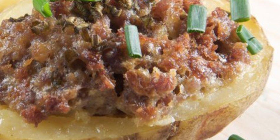 Ofenkartoffeln mit Hackfleisch