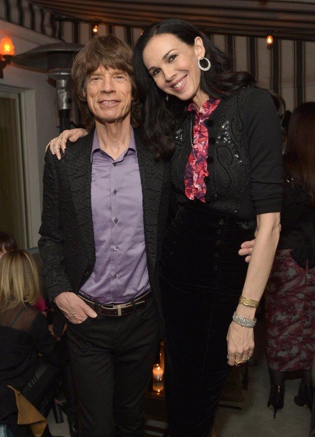 Mick Jagger mit seiner verstorbenen Freundin L`Wren Scott