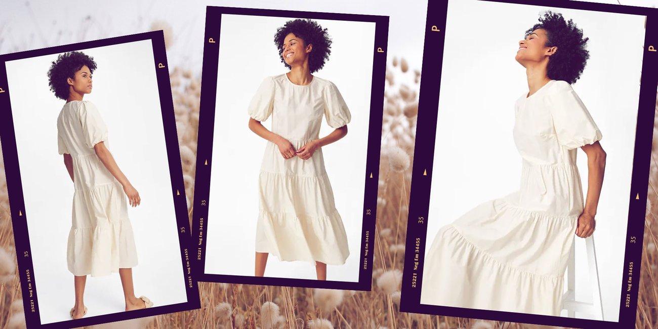 C&A Trendkleid Weiß