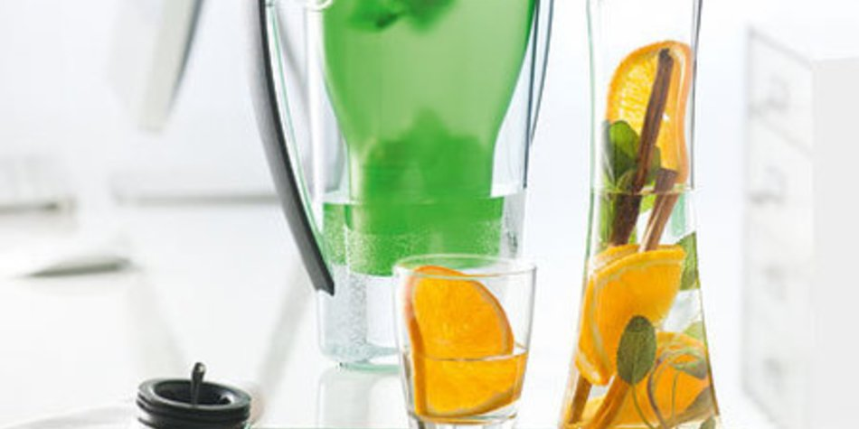 Orange-Salbei-Wasser