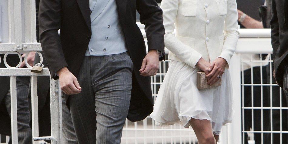 Prinz William und Kate Middleton beim Pferderennen