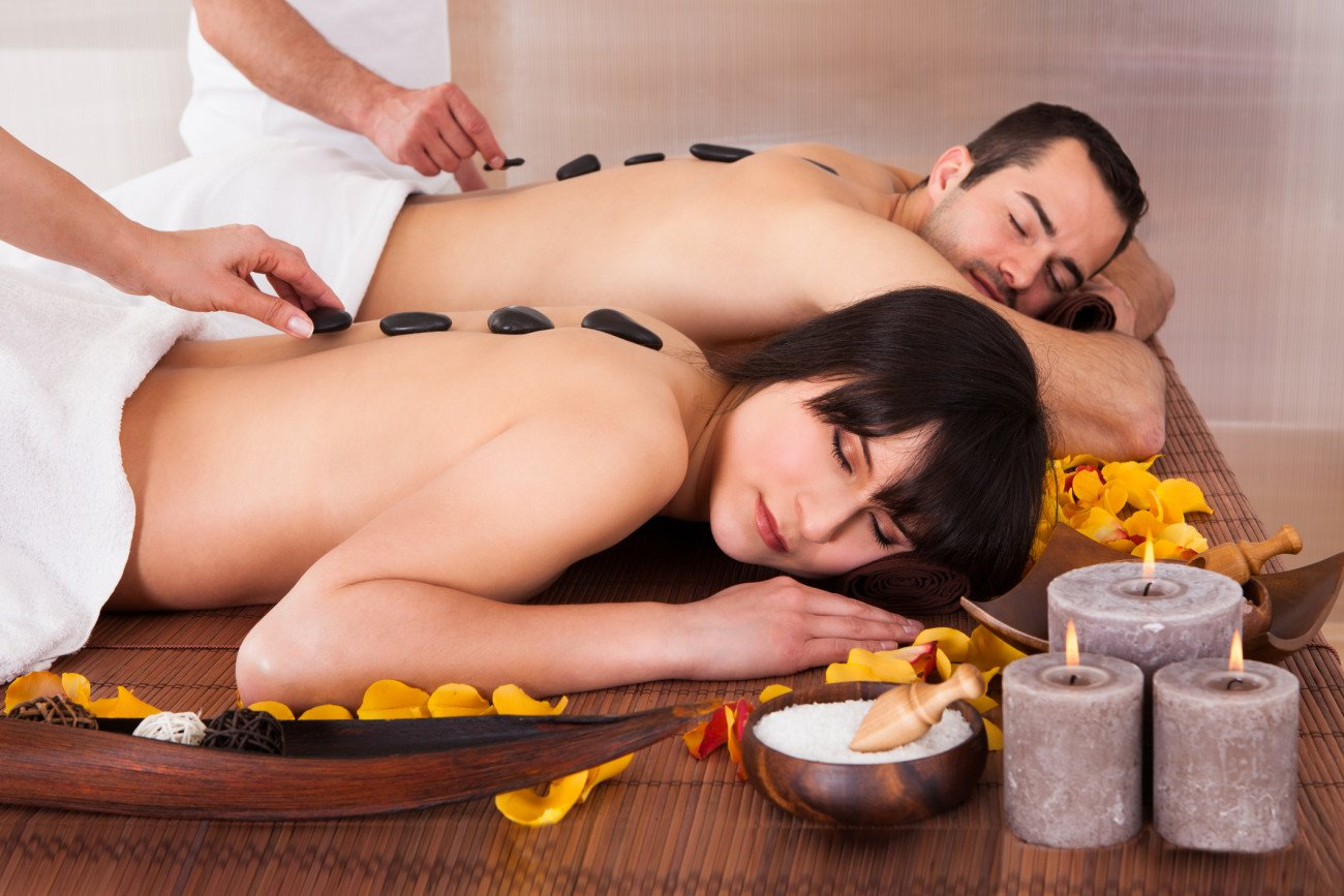 Paar bei der Massage