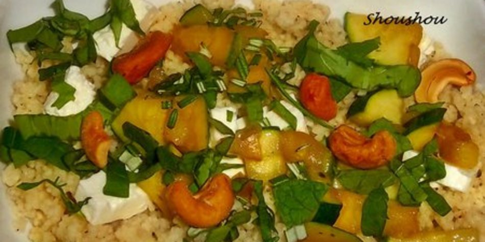 Cashew- Couscous- Salat