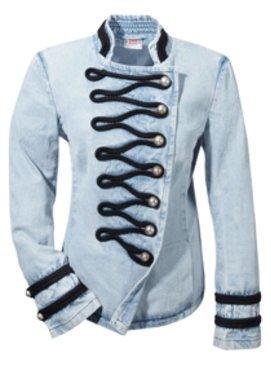 Jeans Jacke im Militarylook