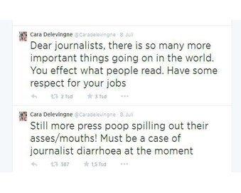Cara Delevingne twittert Aggroposts