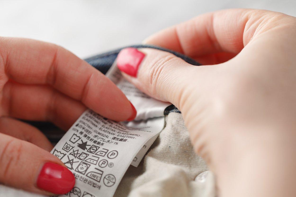 Pflegeetikett Waschanleitung Kleidung