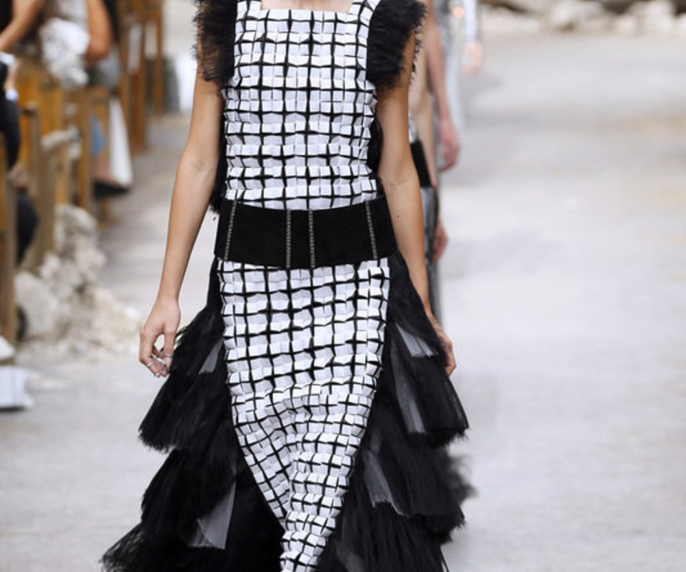 Outfit bei Chanel