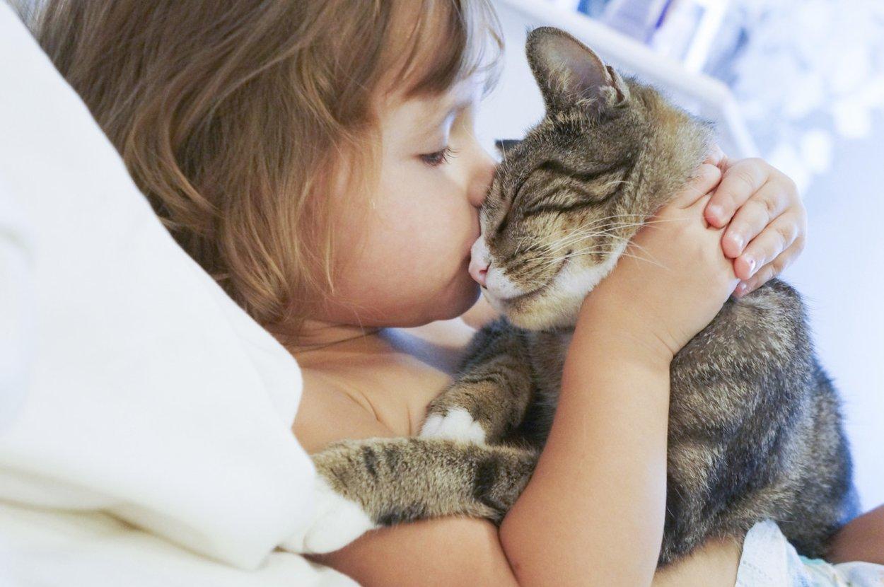 Haustiere als Spielkameraden für Kinder
