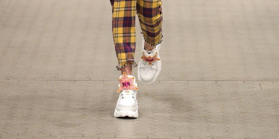 Statement-Sneaker Runway Model