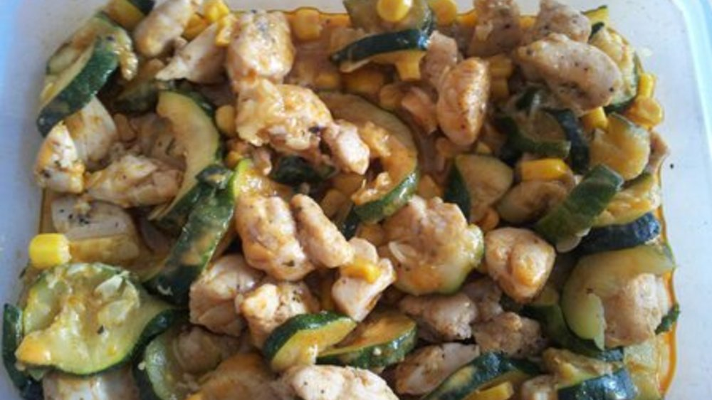Gemüsepfanne mit Fleisch