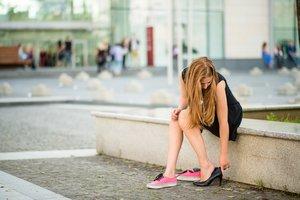 Schuhe wechseln ist natürlich die einfachste Lösung!