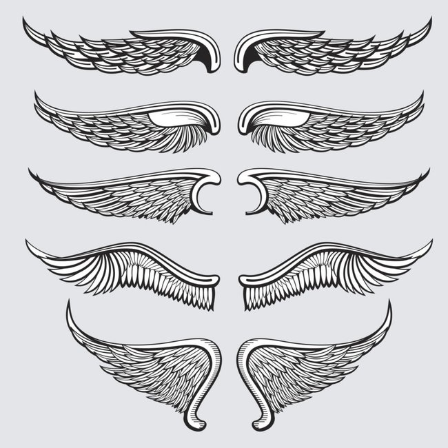 Dark Wings Fave Eagle Wing Tattoos Wing Neck