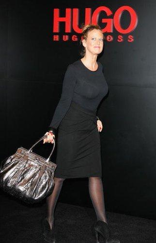 "Barbara Schöneberger bei der ""Hugo Boss""-Show 2008"