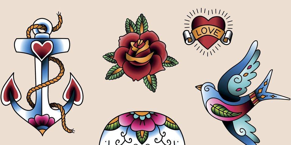 old school tattoos motive infos vorlagen. Black Bedroom Furniture Sets. Home Design Ideas