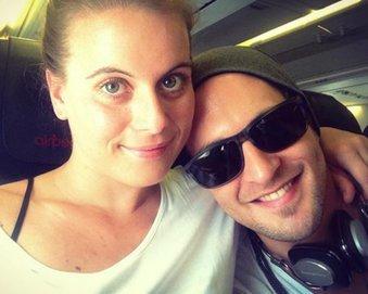 Alexander Klaws mit seiner Freundin Nadja