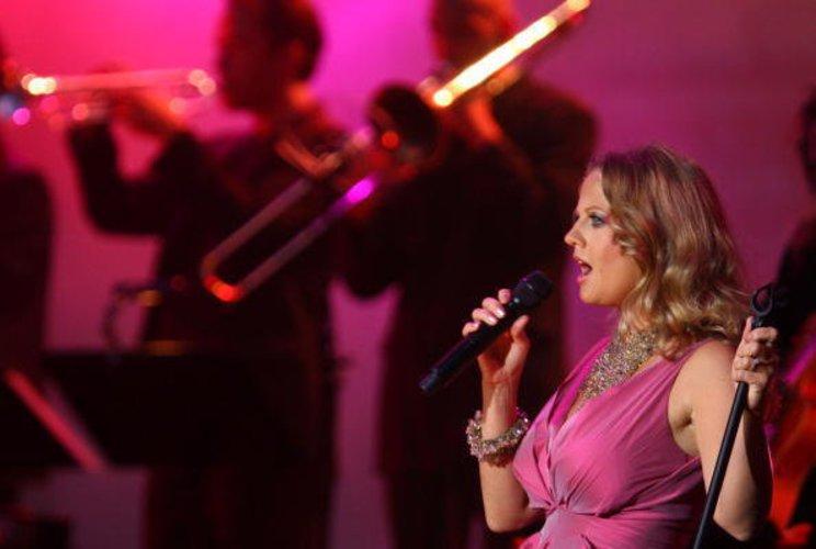 Barbara Schöneberger auf einem festival
