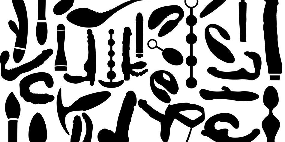Vector dildo, adult sex toys silhouettes
