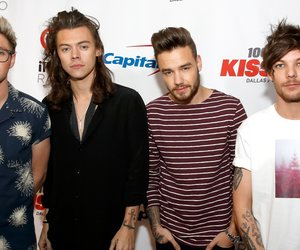 DALLAS, TX - DECEMBER 01: (L-R) Singers Niall Horan, Harry Styles, Liam Payne and Louis Tomlinson of musical group One Direction attend 106.1 KISS FM's Jingle Ball 2015 presented by Capital One at American Airlines Center on December 1, 2015 in Dallas, Texas. (Photo by Rick Kern/Getty Images for iHeartMedia)