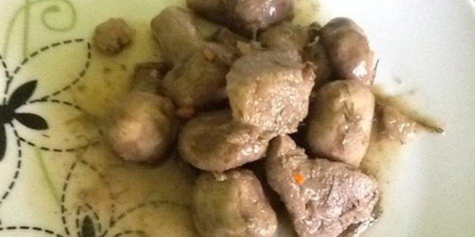 Champignons mit Schweinefleischfilet