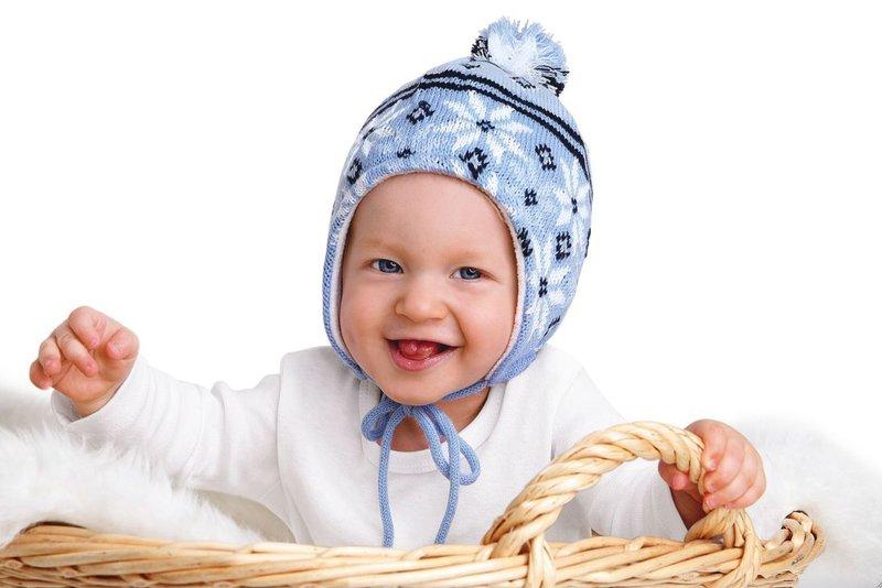 Baby in Korb