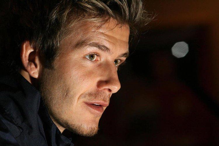 David Beckham gibt eine Pressekonferenz in Liverpool